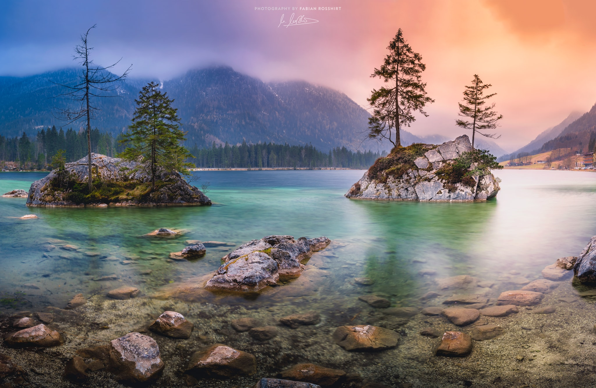 Hintersee, See, Gebirge, Klar, Wasser, Berge, Wolken, Lake, Clouds, Mountains, Bavaria, ALPINE TREASURE (Berchtesgaden Wallpaper HD Bilder Hintergrundbild Background)