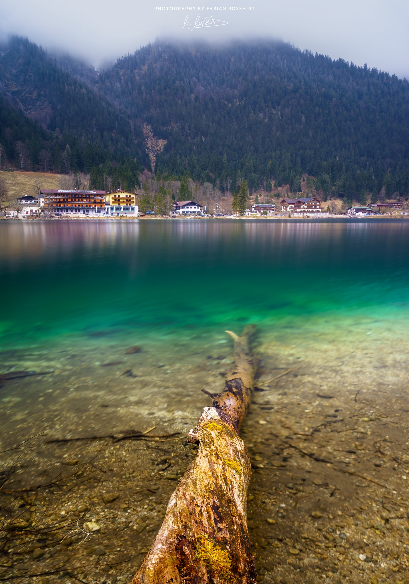 Hintersee, See, Berge, Gebirge, Klar, Baumstamm, Holz, Lake, Transparent, Clear Water, TREE TRUNK (Berchtesgaden Wallpaper HD Bilder Hintergrundbild Background)