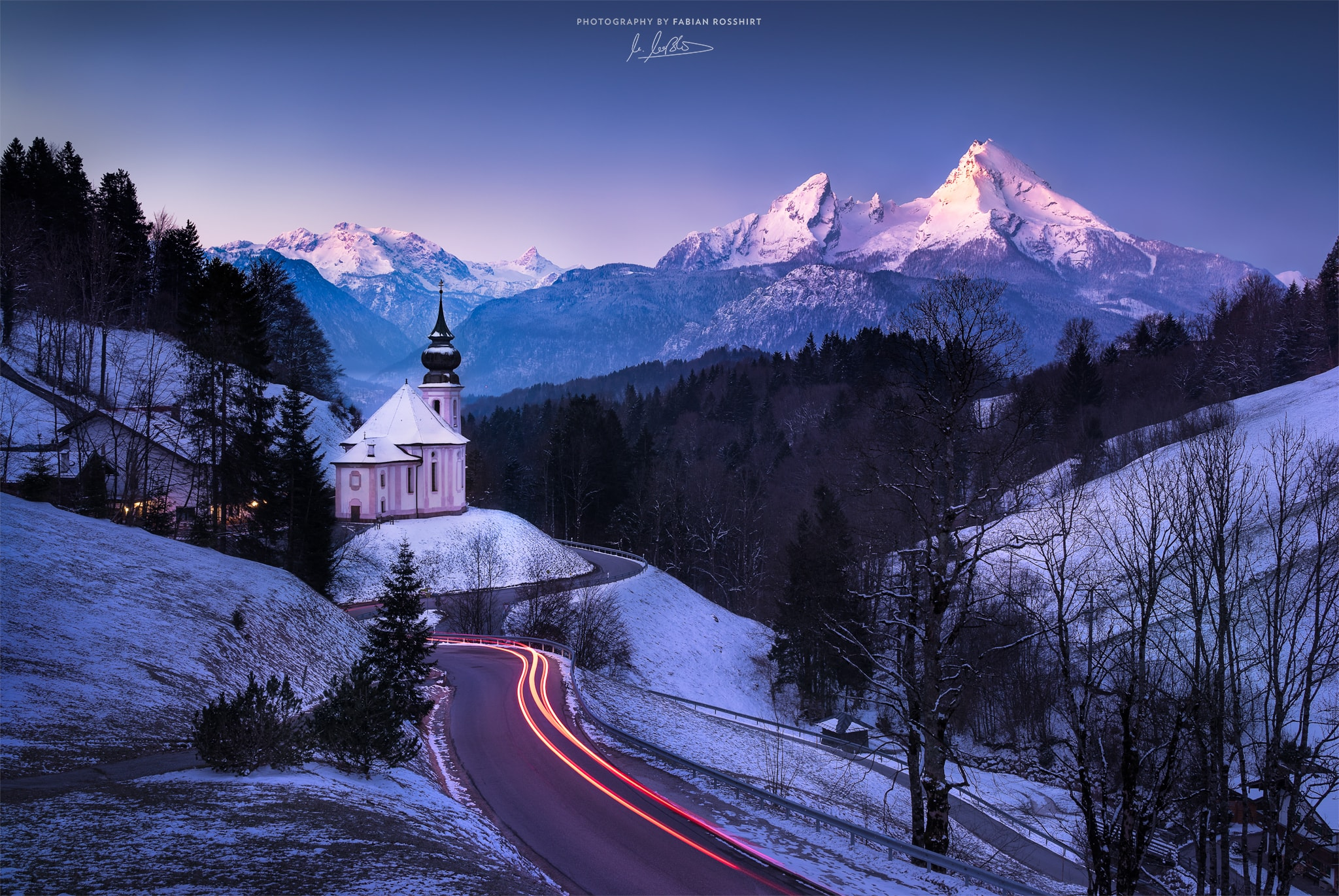 Maria Gern, Kapelle, Watzmann, Berg, Sonnenaufgang, Blau, Morgen, Morning, Chapell, Sun, Light, AWAKENED (Berchtesgaden Wallpaper HD Bilder Hintergrundbild Background)