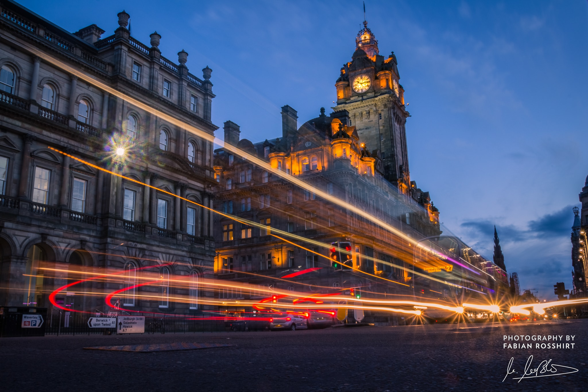 Edinburgh Scotland Schottland Stadt City Abend Evening Lights
